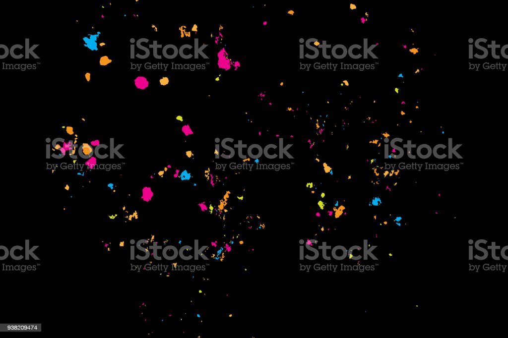 Paint Splatter Background Colourful Explosion Of Paints
