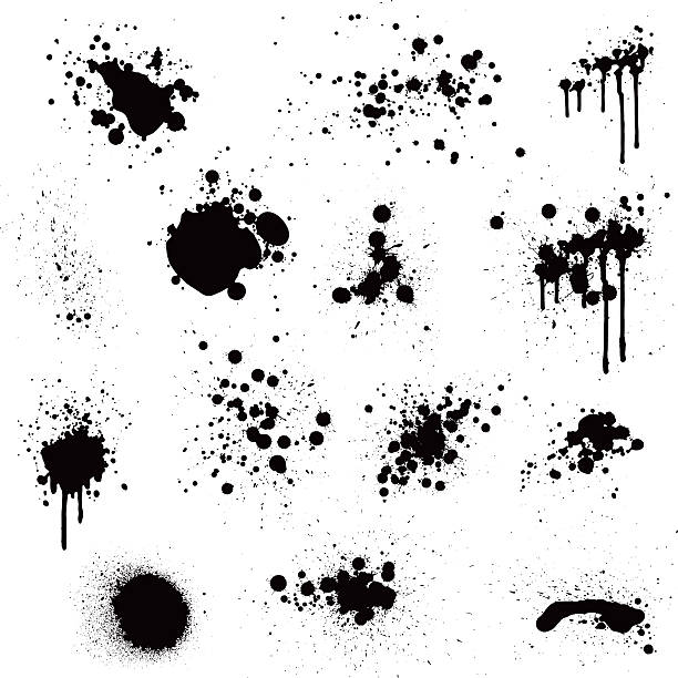 stockillustraties, clipart, cartoons en iconen met paint splatter - vlek