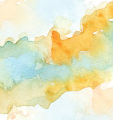 watercolor paint stains on white background