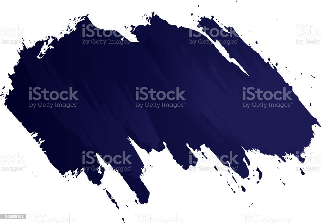 Paint stroke title vector art illustration