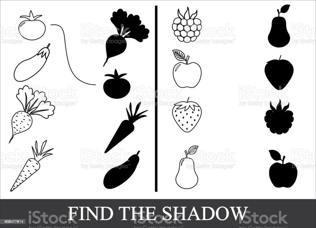 Gemuse Beeren Und Fruchte Zu Malen Und Den Richtigen Schatten Zu