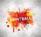 Colorful paintball banner. Illustration contains transparency and blending effects, eps 10