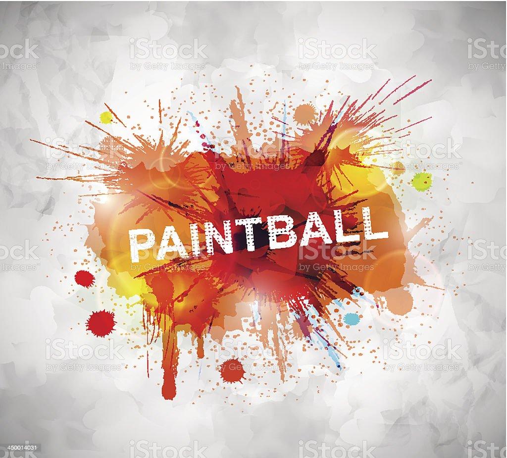 Paintball banner vector art illustration