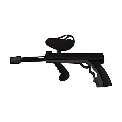 Paintball Gun Icon In Cartoon Style Isolated On White Background Paintball Symbol Stock Vector Illustration Stock Illustration Download Image Now Istock