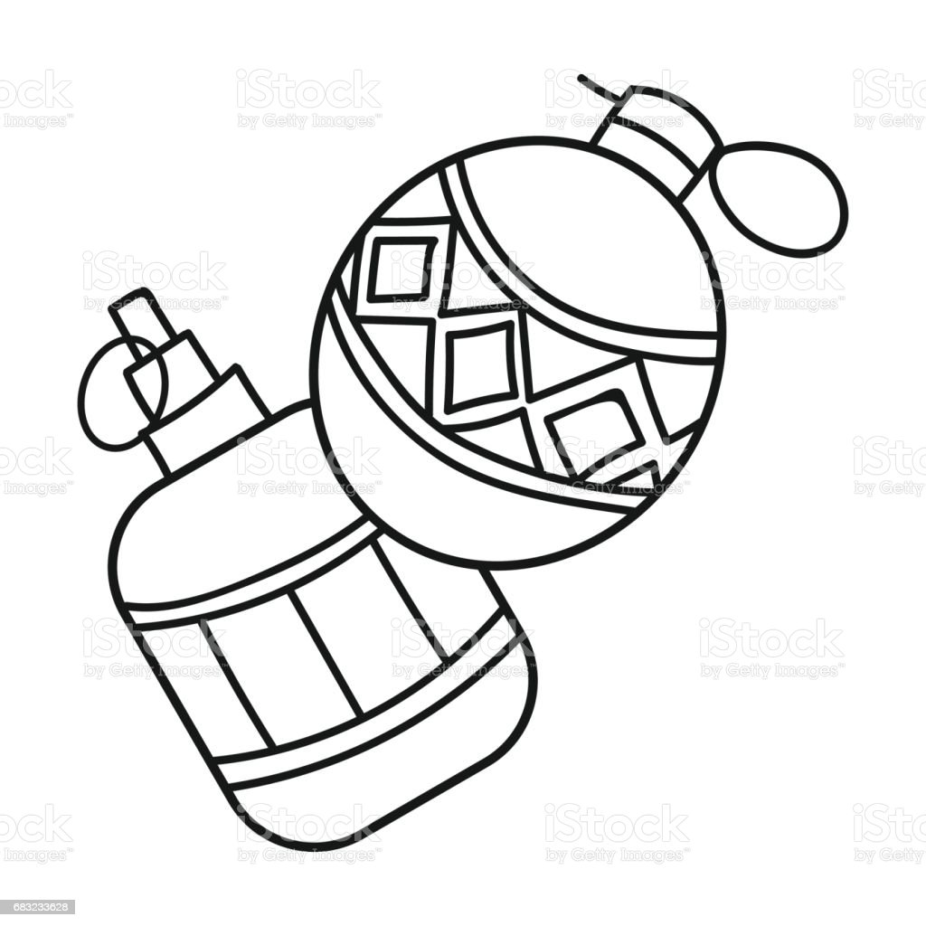 Paintball hand grenade icon in outline style isolated on white background. Paintball symbol stock vector illustration. 免版稅 paintball hand grenade icon in outline style isolated on white background paintball symbol stock vector illustration 向量插圖及更多 危險 圖片