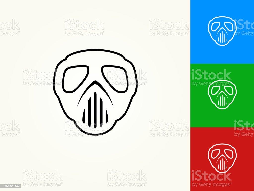 Paintball Mask Black Stroke Linear Icon vector art illustration