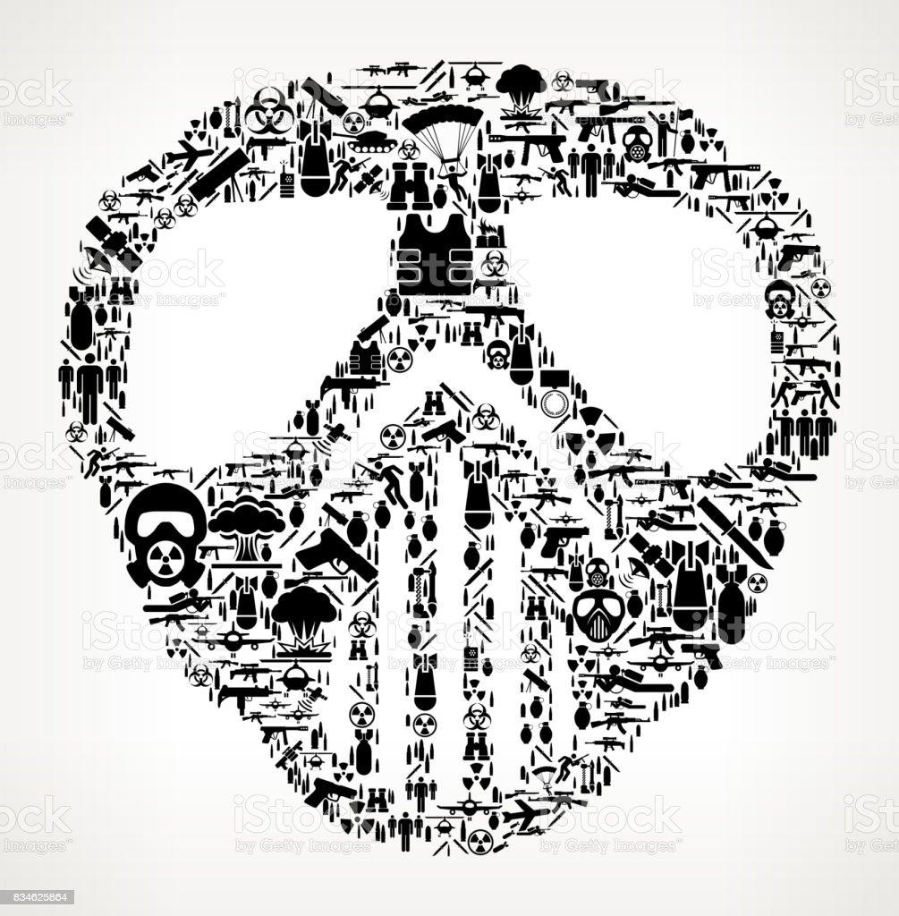 Paintball Mask War and Modern Warfare Vector Icon Pattern vector art illustration