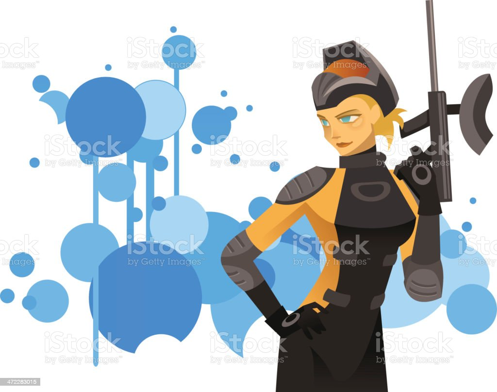 Paintball royalty-free stock vector art