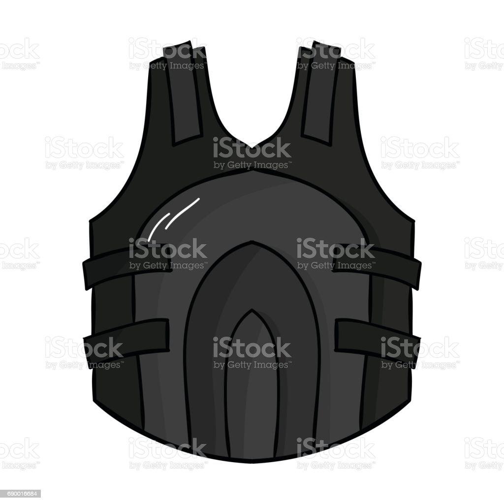 Paintball vest icon in cartoon style isolated on white background. Paintball symbol stock vector illustration. vector art illustration