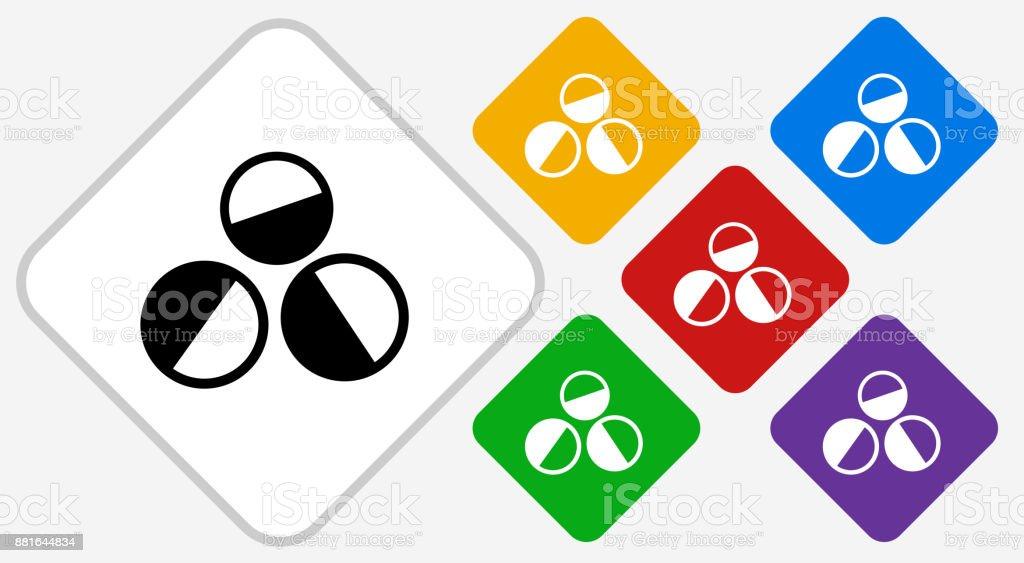 Paintballs Color Diamond Vector Icon vector art illustration