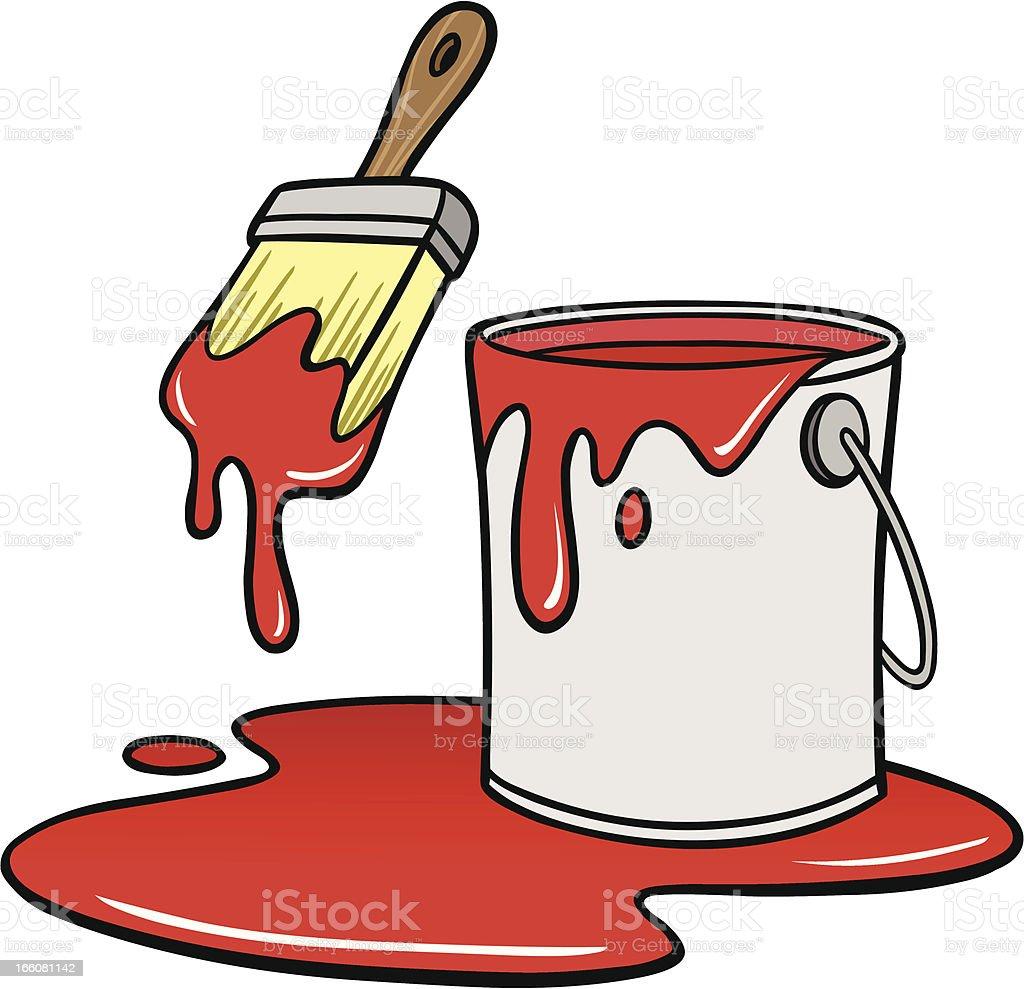 royalty free cartoon of a paint bucket clip art vector images rh istockphoto com paint bucket clip art free