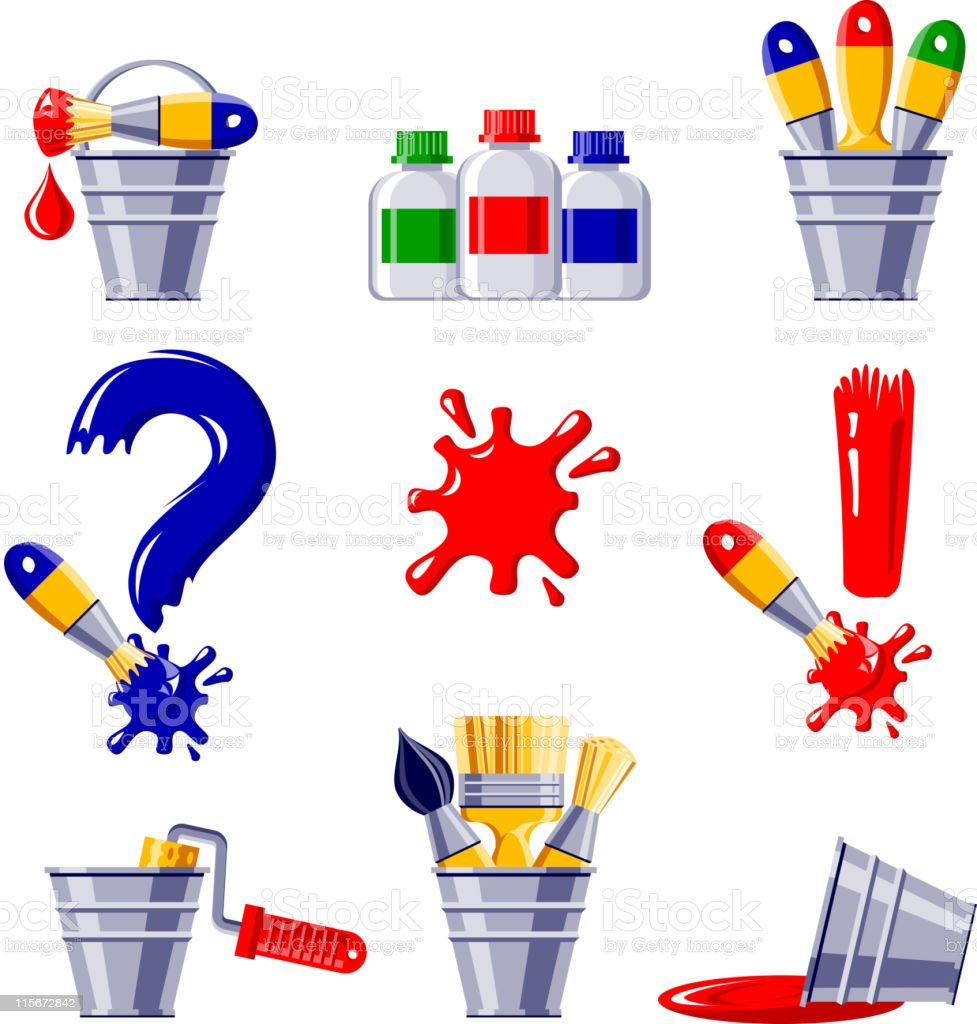 Paintbrush colored royalty-free stock vector art
