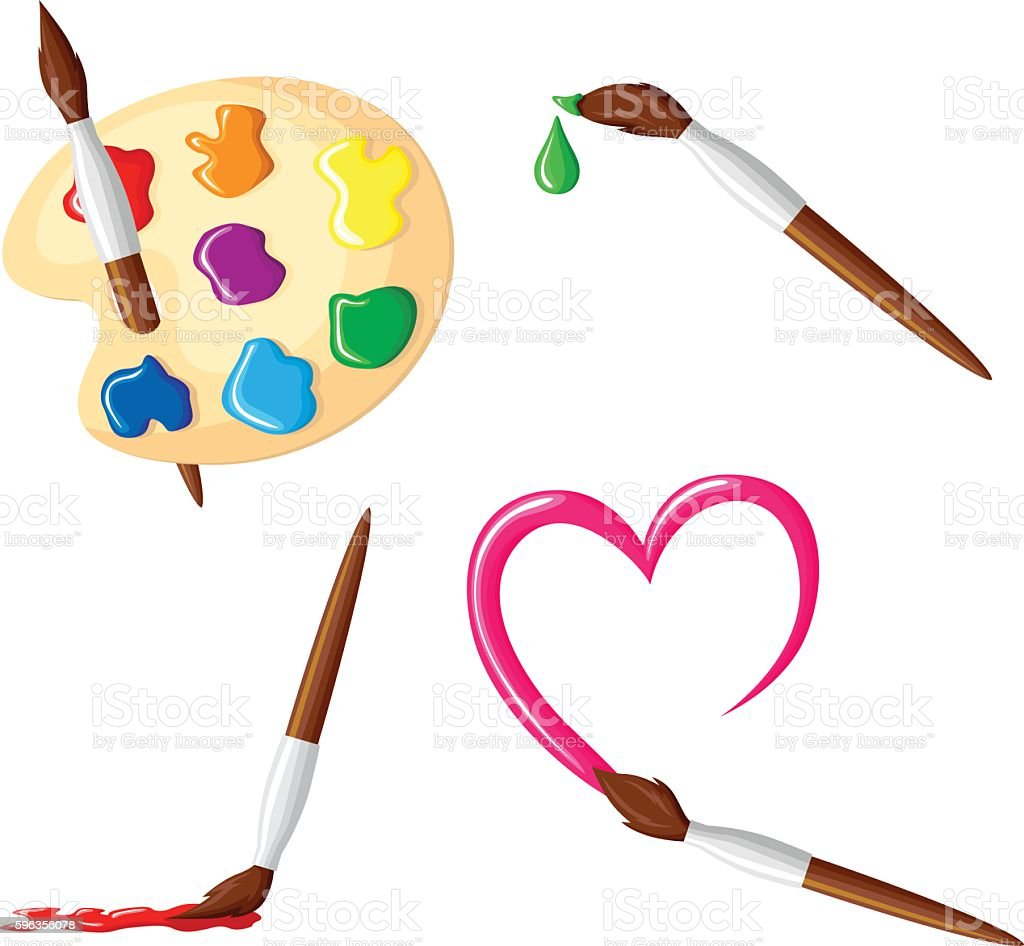 Paintbrush icon set royalty-free paintbrush icon set stock vector art & more images of artist