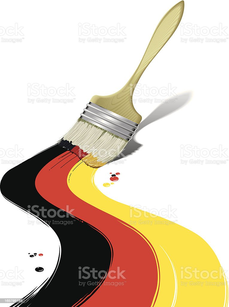 Paintbrush painting Germany flag royalty-free stock vector art