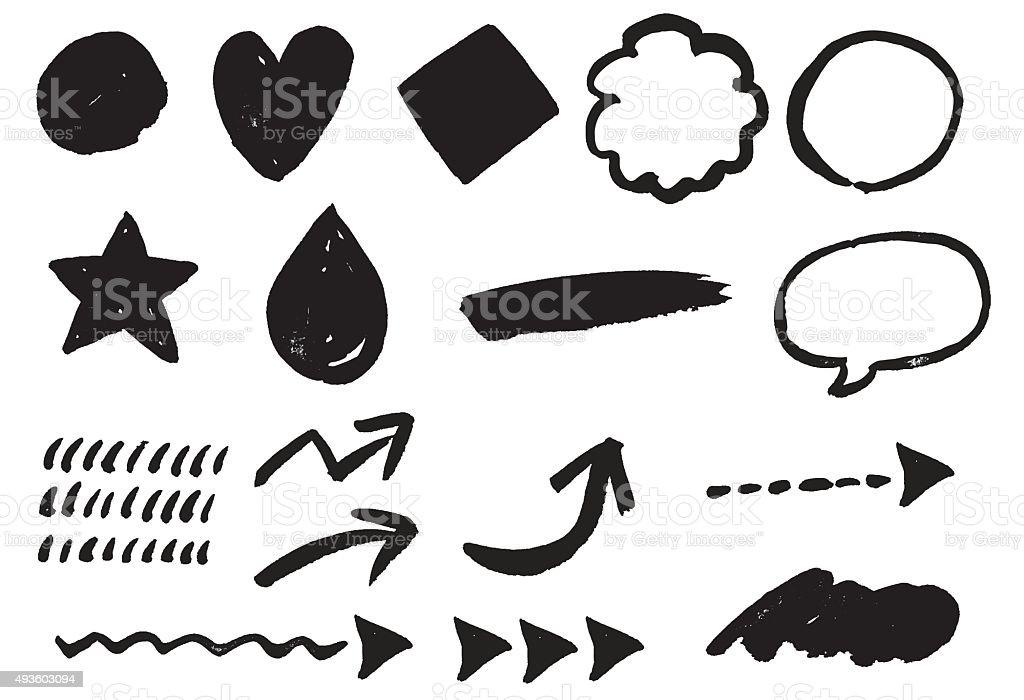 Pinceau motif - Illustration vectorielle