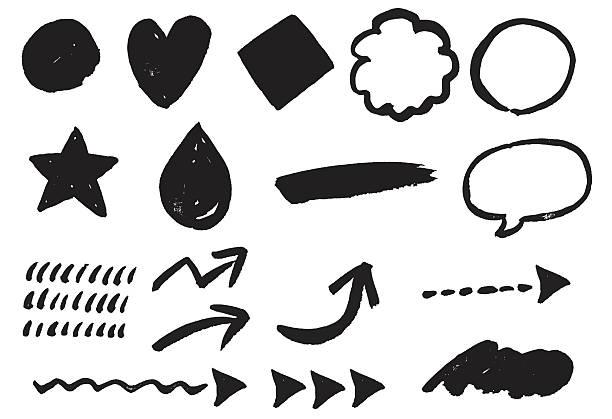 Paintbrush pattern vector art illustration