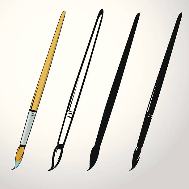 Paintbrush Paintbrush paintbrush stock illustrations