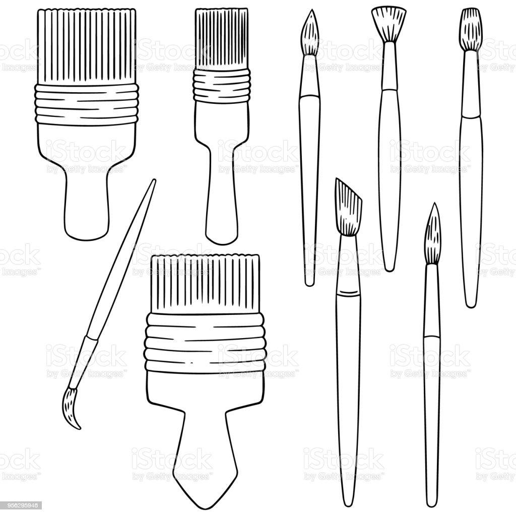 Pincel  - ilustração de arte em vetor