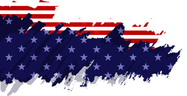 painted american flag american flag paint brush democracy stock illustrations