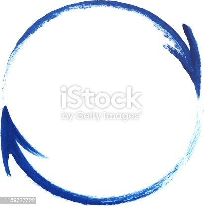 painted circle made of two arrows design element