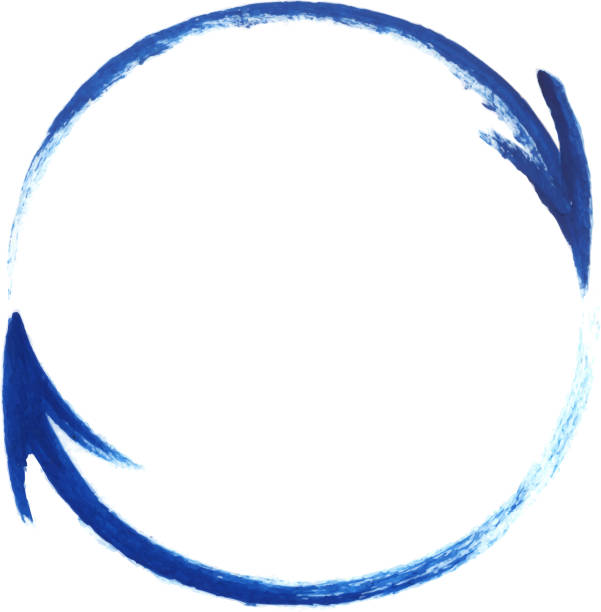 painted arrows circle - rower stock illustrations