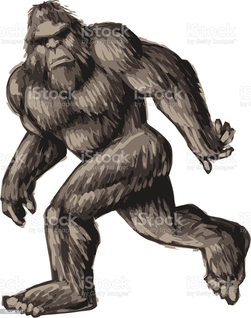 royalty free bigfoot clip art vector images illustrations istock rh istockphoto com bigfoot clip 1950s bigfoot clipart black and white