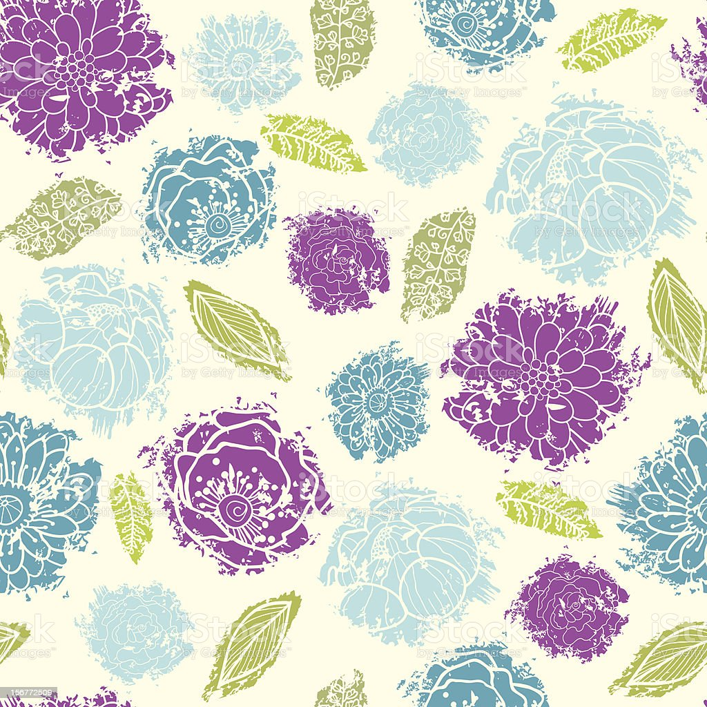 Painted Bouquet Textured Seamless Pattern Background royalty-free painted bouquet textured seamless pattern background stock vector art & more images of abstract