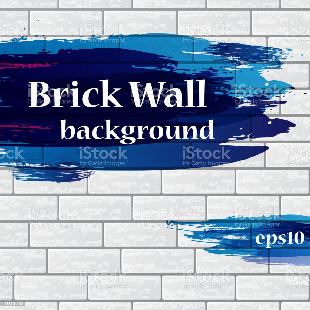 Painted brick wall with text painted brick wall with text - immagini vettoriali stock e altre immagini di a forma di blocco royalty-free