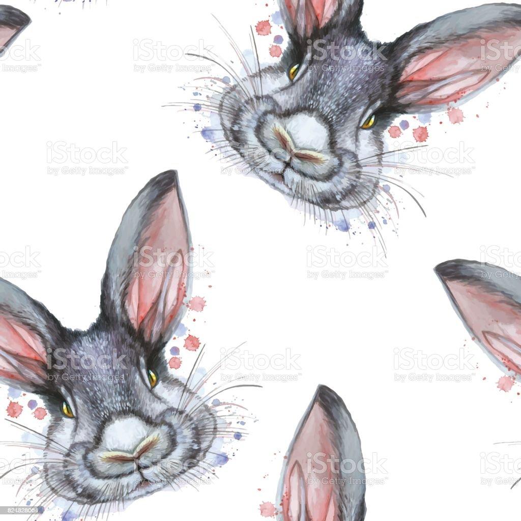 Ilustración De Imprimir El Dibujo Pintado Con Retrato De Acuarela De