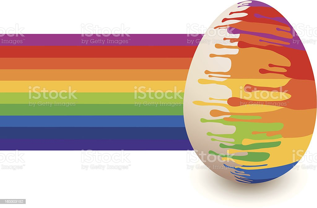 Painted Easter egg, vector royalty-free stock vector art