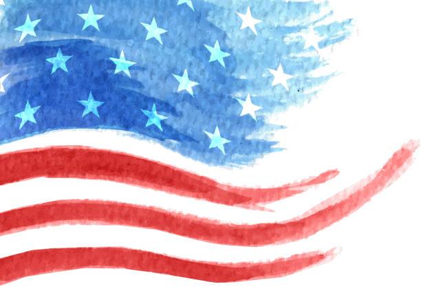 painted flag - us flag stock illustrations