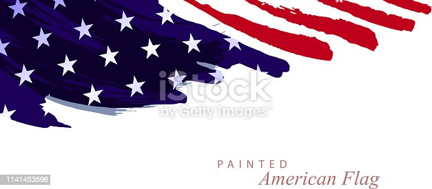 painted abstract american flag