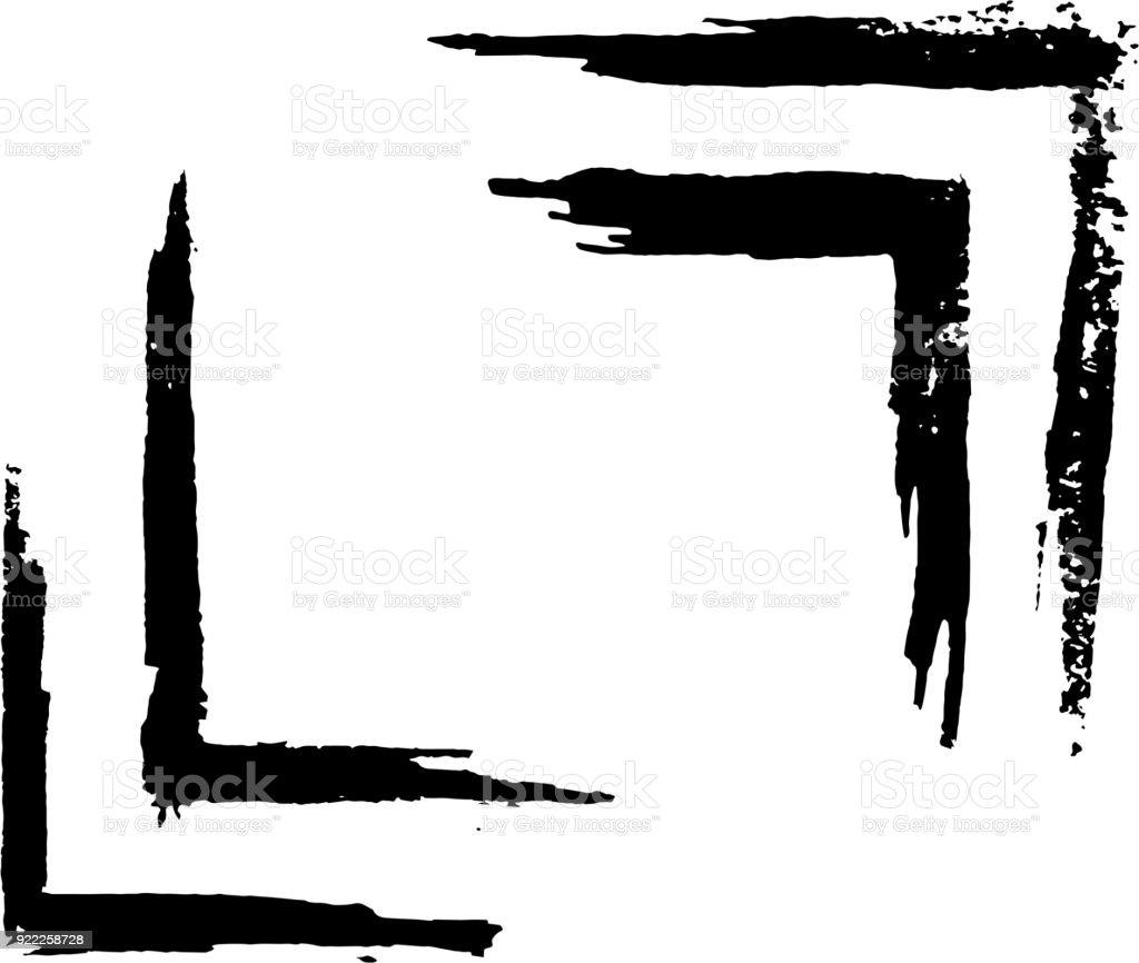 frontera de marco pintado - ilustración de arte vectorial
