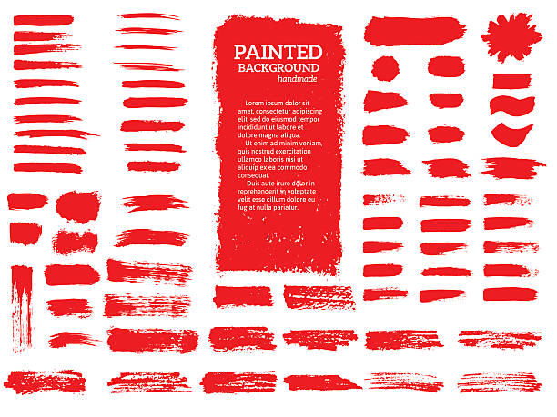 painted grunge stripes set. - paint texture stock illustrations, clip art, cartoons, & icons
