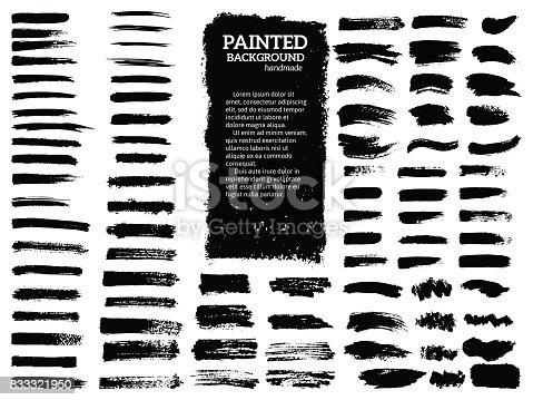 istock Painted grunge stripes set. 833321950