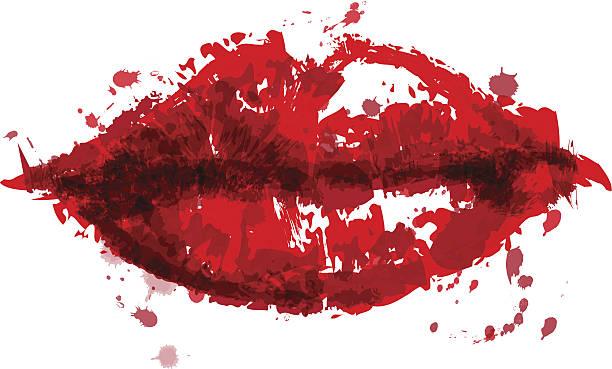 illustrations, cliparts, dessins animés et icônes de painted les lèvres - mode maquillage