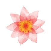 Vector illustration of pink flower.