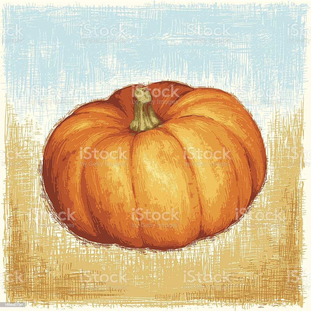 Painted Pumpkin royalty-free painted pumpkin stock vector art & more images of autumn
