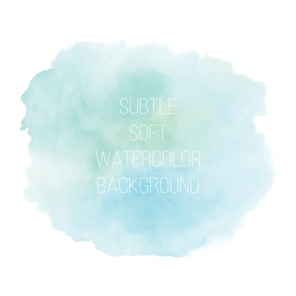 painted sea blue watercolor background. - watercolor background stock illustrations, clip art, cartoons, & icons