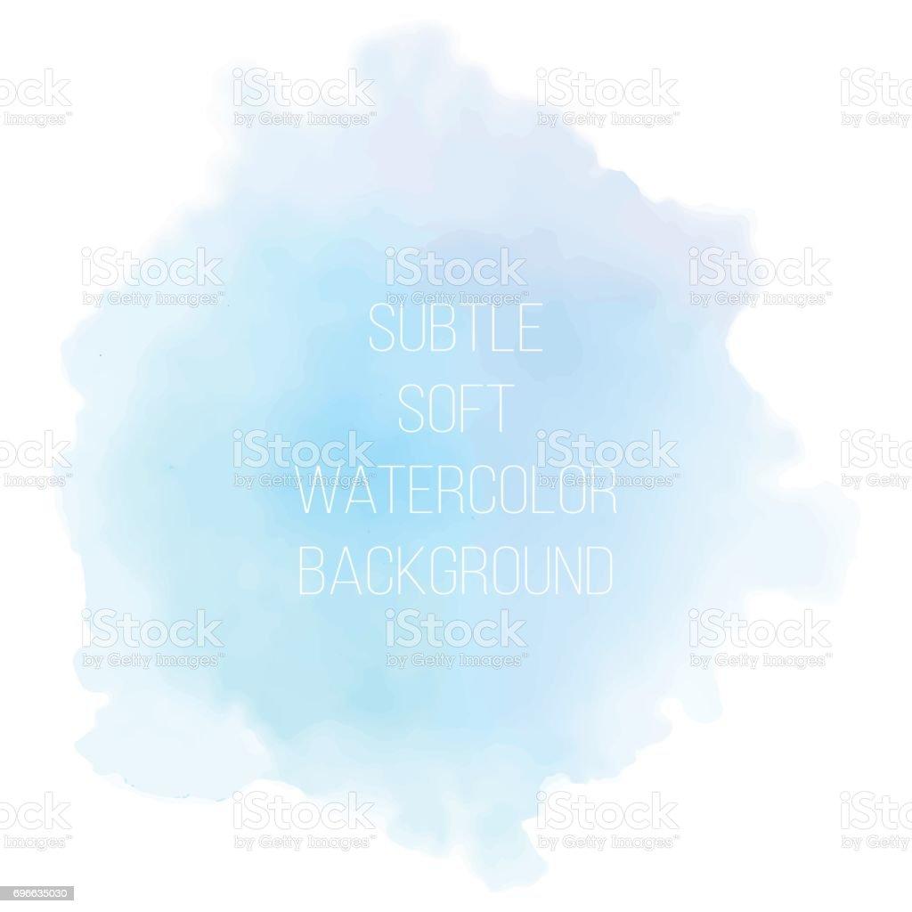 塗装海青い水彩画背景。 ベクターアートイラスト