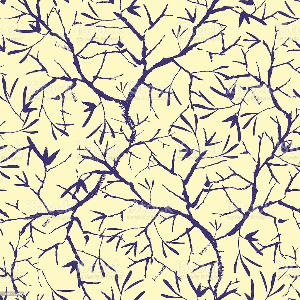 Painted Tree Branches Seamless Pattern background royalty-free painted tree branches seamless pattern background stock vector art & more images of abstract