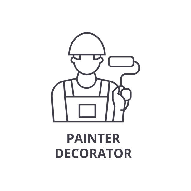Painter Decorator Sign Stock Vector: Best Chutes And Ladders Illustrations, Royalty-Free Vector