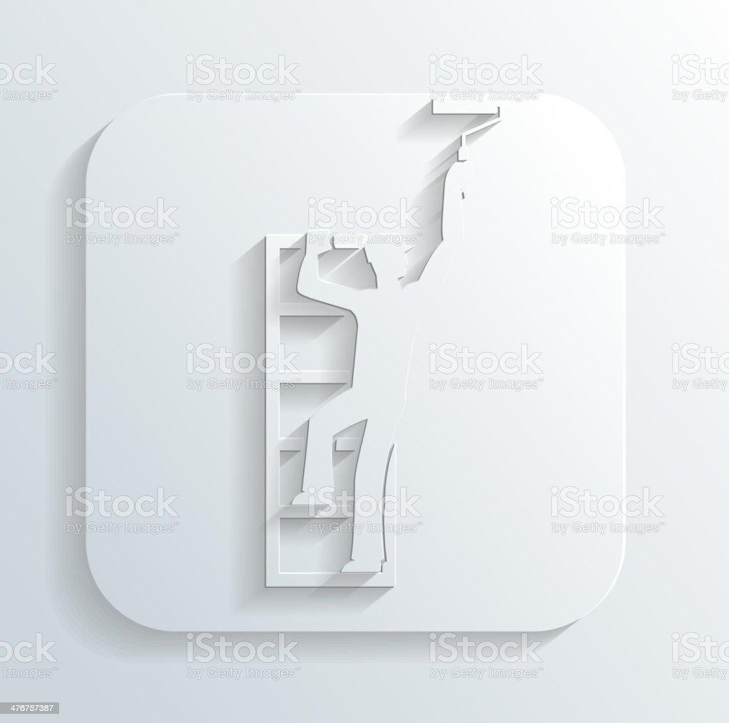 Painter icon vector royalty-free stock vector art