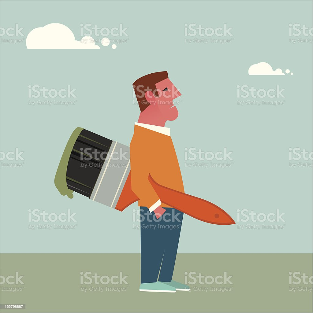 Painter man royalty-free stock vector art