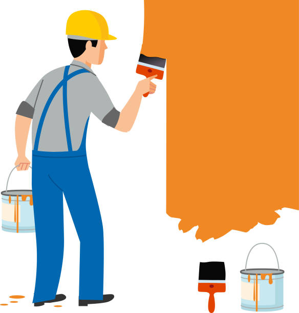 painter. renovator - russelltatedotcom stock illustrations