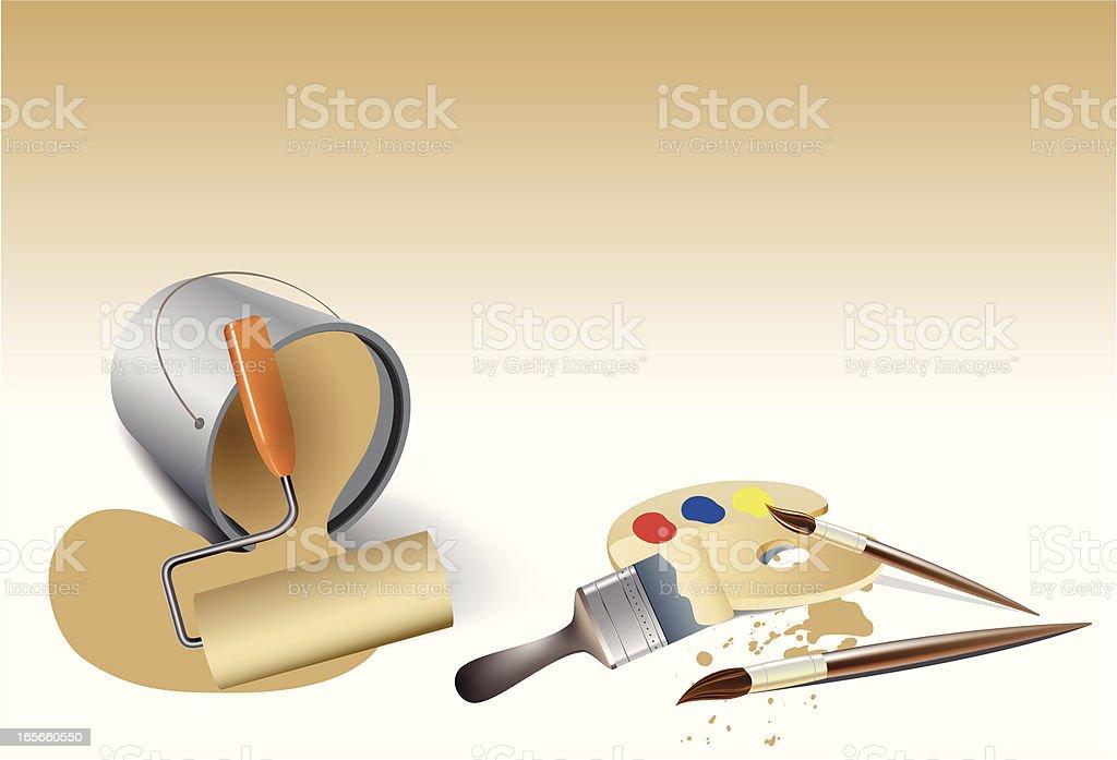 painter tools royalty-free stock vector art