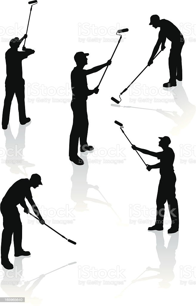 Painters - Home Improvement, Paint Roller royalty-free stock vector art