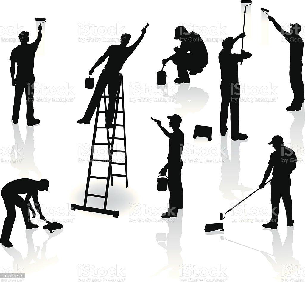 Pintores de bricolaje - ilustración de arte vectorial