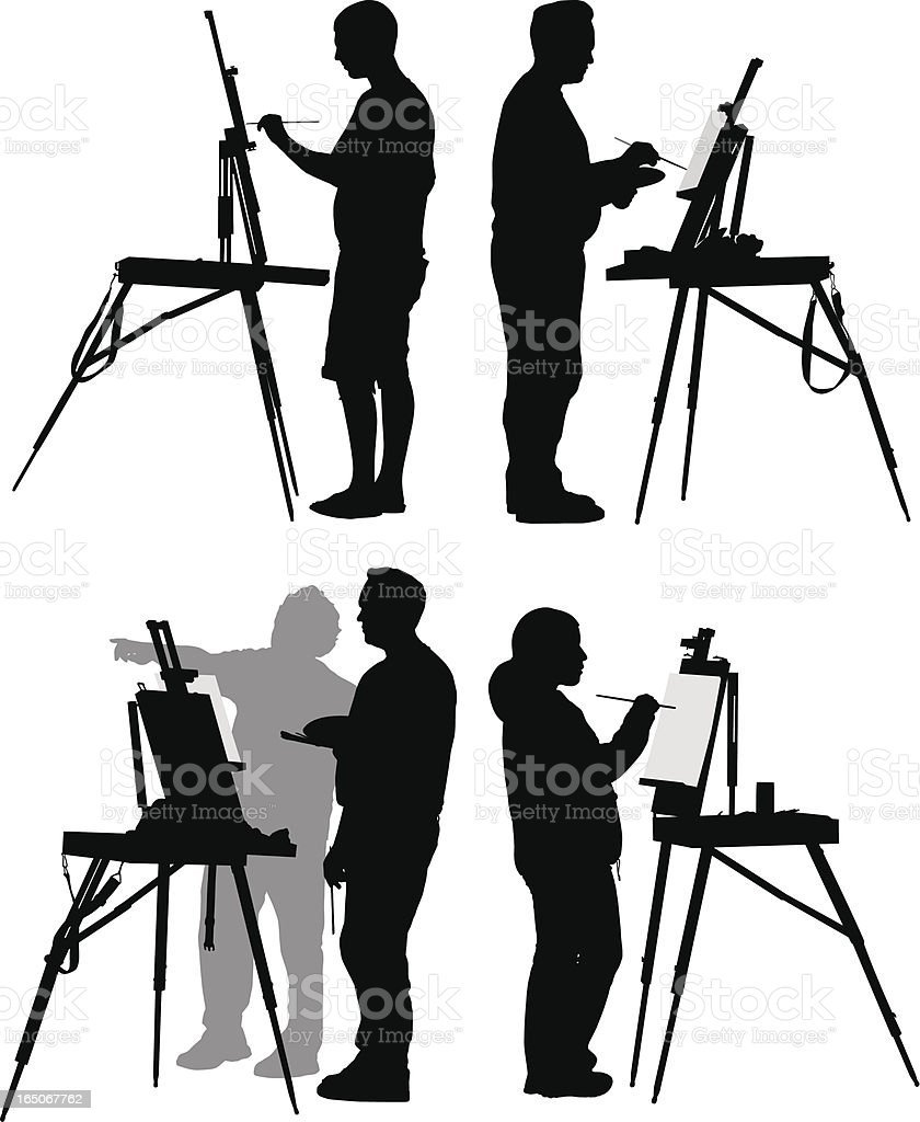 Painters vector art illustration
