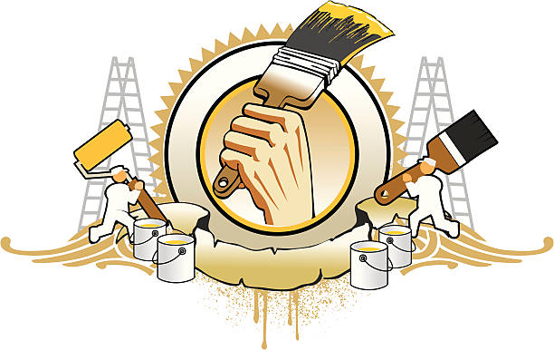 Maler Arbeit logo-emblem – Vektorgrafik